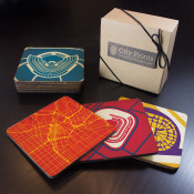 Los Angeles Sports Teams Wooden Coaster Set