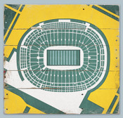 Lambeau Field Print on Reclaimed Wood