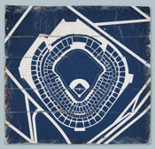 Yankee Stadium Print on Reclaimed Wood