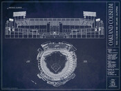 Oakland A's Game-Used Base Stadium Collage