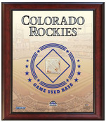 Colorado Rockies Game-Used Base Stadium Collage
