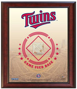 Minnesota Twins Game-Used Base Stadium Collage