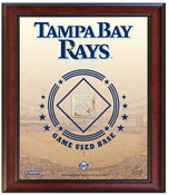 Tampa Bay Rays Game-Used Base Stadium Collage