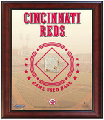 Cincinnati Reds Game-Used Base Stadium Collage