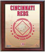 Cincinnati Reds Game-Used Base Stadium Collage