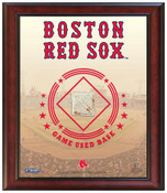 Boston Red Sox Game-Used Base Stadium Collage