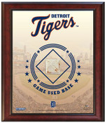 Detroit Tigers Game-Used Base Stadium Collage