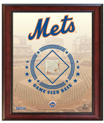 New York Mets Game-Used Base Stadium Collage
