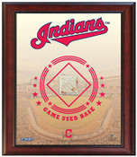 Cleveland Indians Game-Used Base Stadium Collage