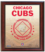 Chicago Cubs Game-Used Base Stadium Collage