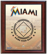 Miami Marlins Game-Used Base Stadium Collage