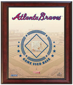 Atlanta Braves Game-Used Base Stadium Collage