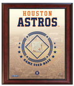 Houston Astros Game-Used Base Stadium Collage