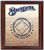Milwaukee Brewers Game-Used Base Stadium Collage
