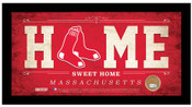 Boston Red Sox Home Sweet Home Sign w/Game Used Dirt
