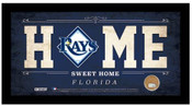 Tampa Bay Rays Home Sweet Home Sign w/Game Used Dirt