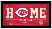 Cincinnati Reds Home Sweet Home Sign w/Game Used Dirt