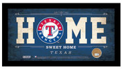 Texas Rangers Home Sweet Home Sign w/Game Used Dirt