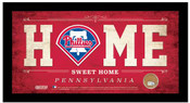 Philadelphia Phillies Home Sweet Home Sign w/Game Used Dirt