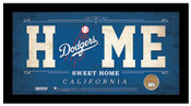 Los Angeles Dodgers Home Sweet Home Sign w/Game Used Dirt