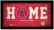 Los Angeles Angels Home Sweet Home Sign w/Game Used Dirt