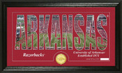 "Arkansas Razorbacks ""Word Art"" Panoramic Photo Mint"