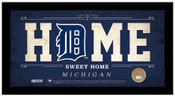 Detroit Tigers Home Sweet Home Sign w/Game Used Dirt