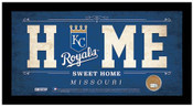 Kansas City Royals Home Sweet Home Sign w/Game Used Dirt