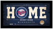 Minnesota Twins Home Sweet Home Sign w/Game Used Dirt