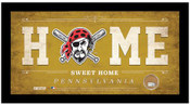 Pittsburgh Pirates Home Sweet Home Sign w/Game Used Dirt