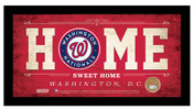 Washington Nationals Home Sweet Home Sign w/Game Used Dirt