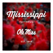 Ole Miss Faithful Wall Art Art