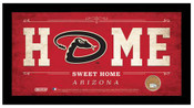 Arizona Diamondbacks Home Sweet Home Sign w/Game Used Dirt