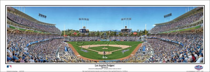 """Los Angeles Dodgers"" Dodger Stadium Panoramic Poster"