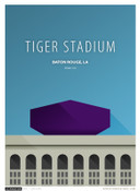 LSU Tigers - Tiger Stadium Simple Print