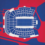 Ole Miss Rebels - Vaught Hemingway Stadium City Print