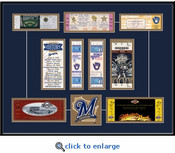 Milwaukee Brewers Tickets to History - Replica Ticket Frame