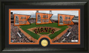 "San Francisco Giants ""Traditions"" Bronze Coin Panoramic Photo Mi"