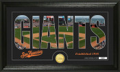 "San Francisco Giants ""Silhouette"" Bronze Coin Panoramic Photo Mi"