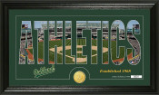 "Oakland A's ""Silhouette"" Bronze Coin Panoramic Photo Mint"