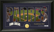 "San Diego Padres ""Silhouette"" Bronze Coin Panoramic Photo Mint"