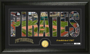 "Pittsburgh Pirates Silhouettet"" Bronze Coin Panoramic Photo Mint"