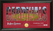 "St. Louis Cardinals ""Silhouette"" Bronze Coin Panoramic Photo Min"