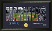 "Seattle Mariners ""Silhouette"" Bronze Coin Panoramic Photo Mint"