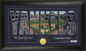 "New York Yankees ""Silhouette"" Bronze Coin Panoramic Photo Mint"