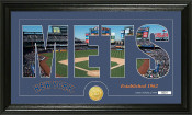 "New York Mets ""Silhouette"" Bronze Coin Panoramic Photo Mint"