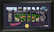 "Minnesota Twins ""Silhouette"" Bronze Coin Panoramic Photo Mint"