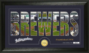 "Milwaukee Brewers ""Silhouette"" Bronze Coin Panoramic Photo Mint"