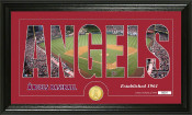 "Los Angeles Angels ""Silhouette"" Bronze Coin Panoramic Photo Mint"