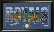 "Kansas City Royals ""Silhouette"" Bronze Coin Panoramic Photo Mint"